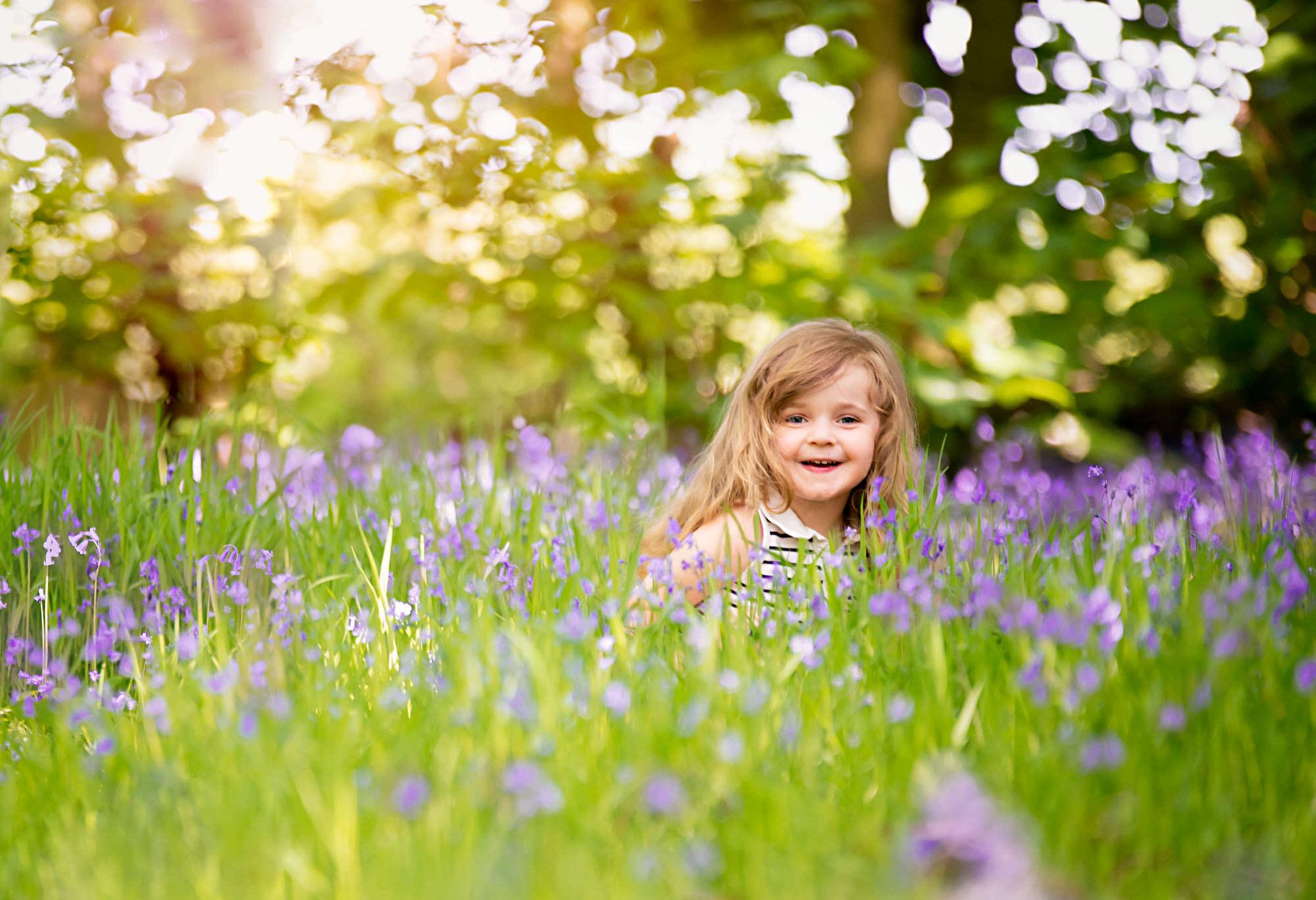 children photographer Barnsley, bluebells shoot