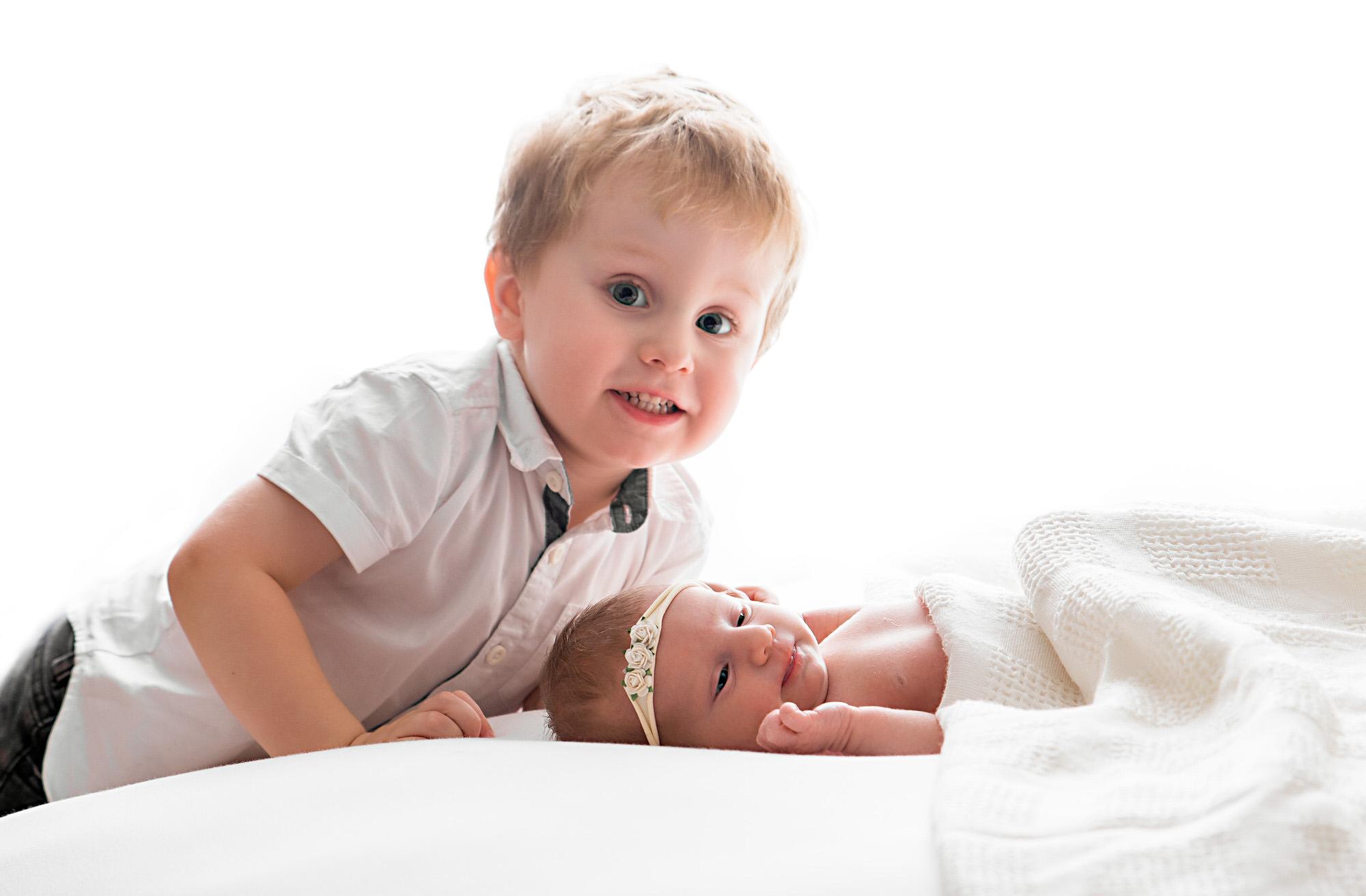 Newborn photographer Barnsley, siblings, Yorkshire