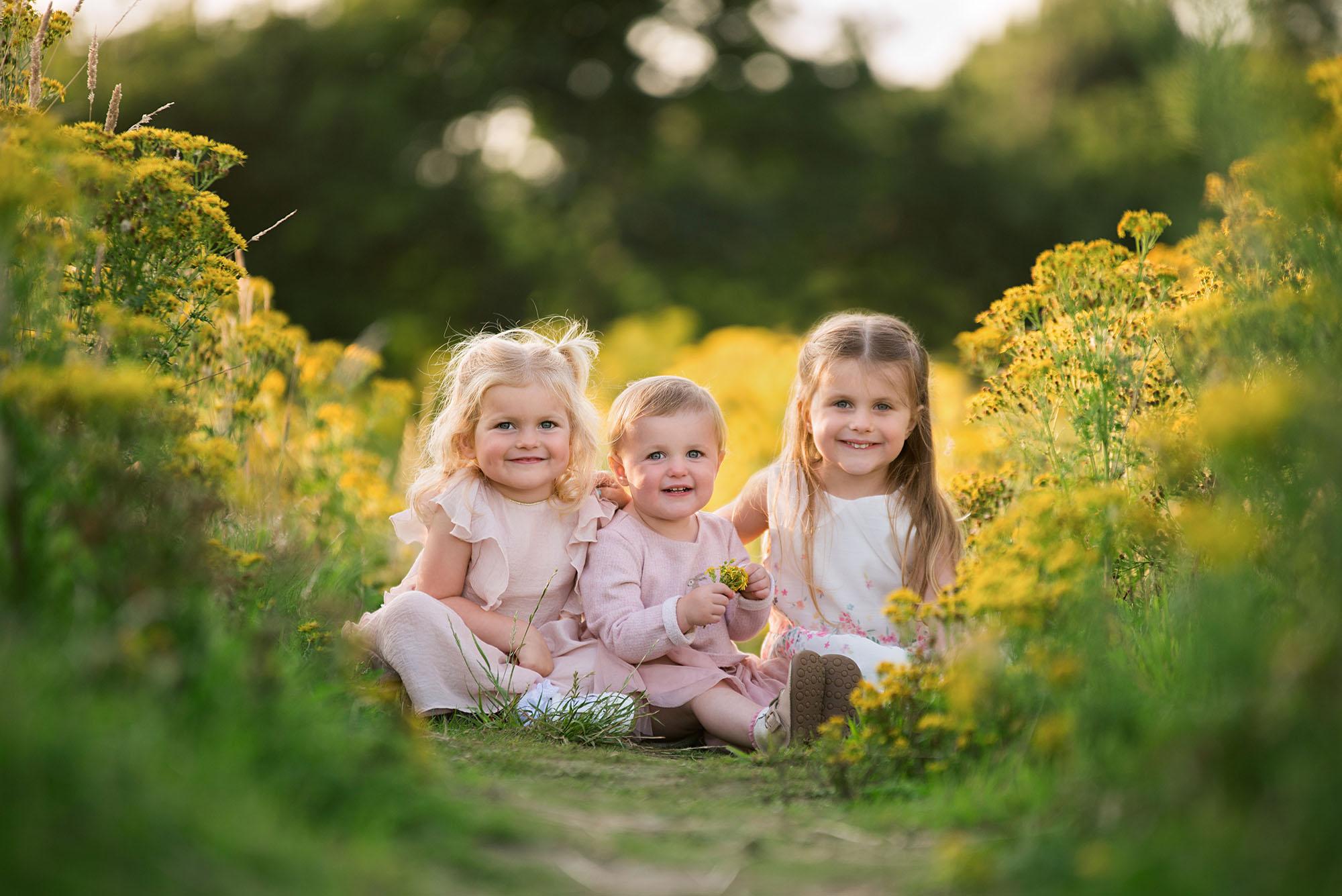 Barnsley family photographer, children sunset photo shoot