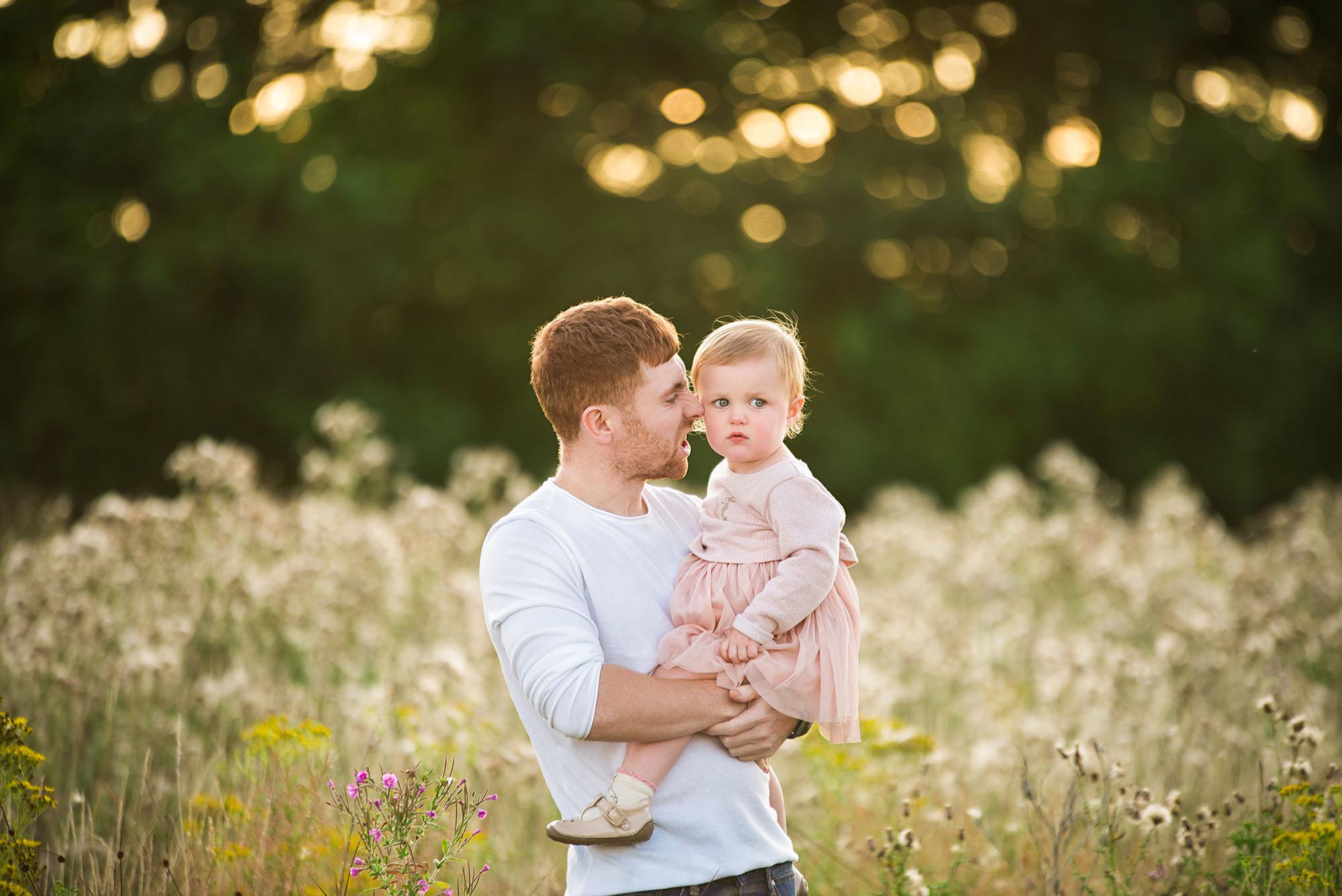 Barnsley photographer, father and daughter photoshoot
