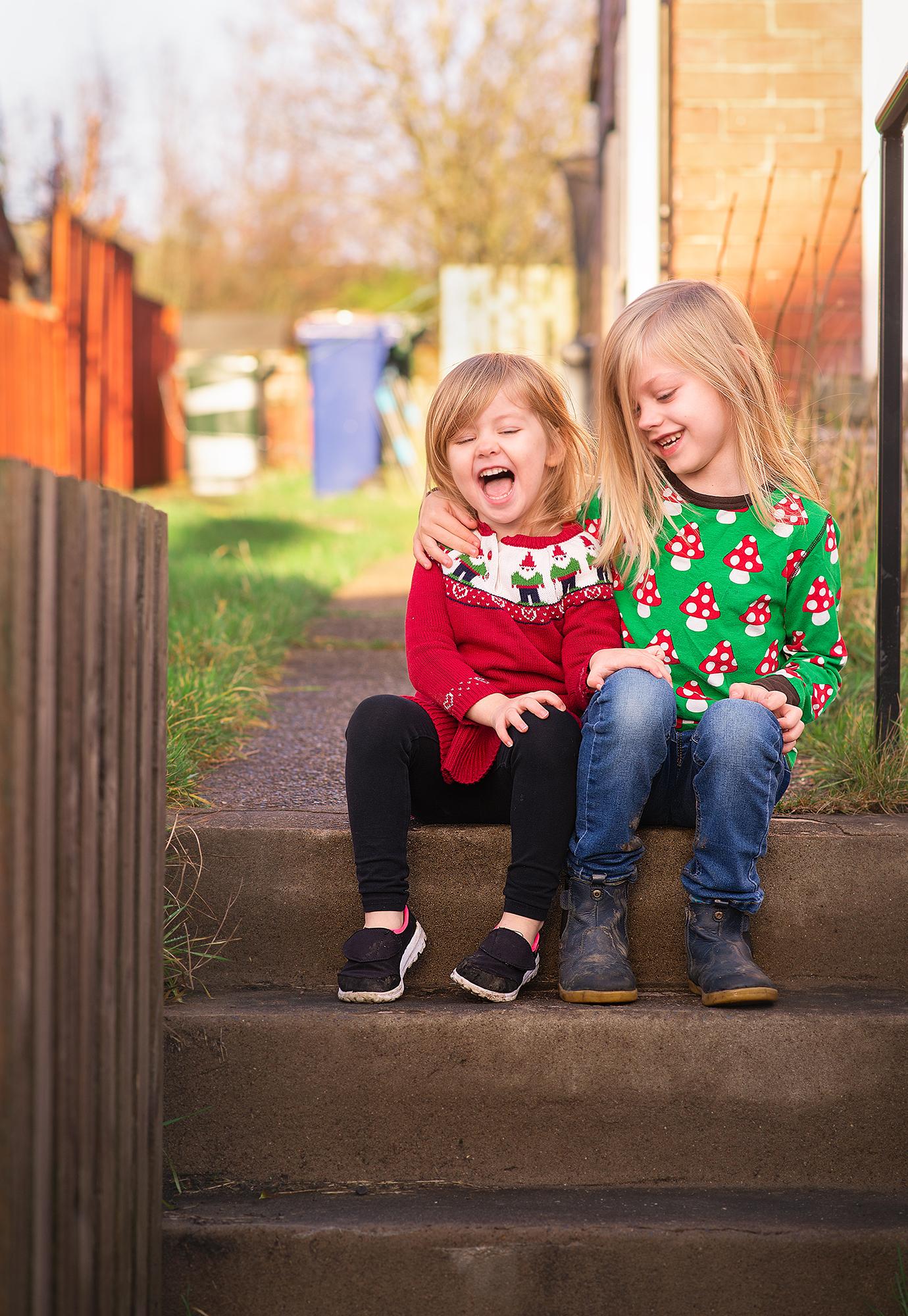 Christmas door step portraits - Barnsley
