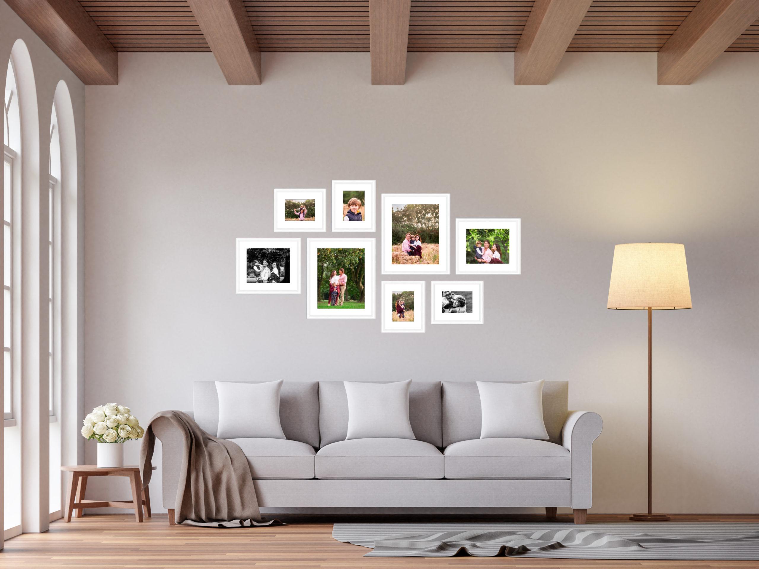 wall art - 8 photo frame gallery