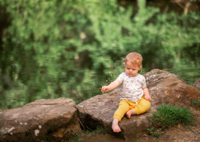 Family photography session by the water in Barnsley