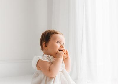 Baby laughing at mum at Barnsley baby photographer