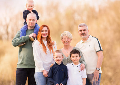Family photographer Barnsley, two families together